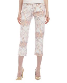 Womens Chloe Ikat Cropped Jeans   Christopher Blue   White multi (12)