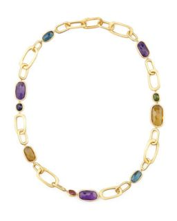 Murano 18k Mixed Stone Link Necklace, 20L   Marco Bicego   (18k )
