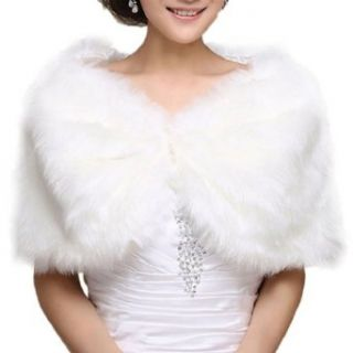DAPENE Formal Dress / Wedding Dress White Fur Shawl Keep Warm at  Women�s Clothing store