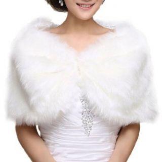 DAPENE Formal Dress / Wedding Dress White Fur Shawl Keep Warm at  Women�s Clothing store