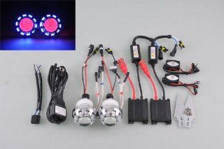 "Motorcycle 2.0"" HID Bi Xenon Ballast Projector Lens Blue Angel Red Devil Eye A Automotive"