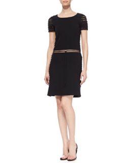 Womens Barbed Wire Wool Dress, Black   Ralph Rucci   Black (4)