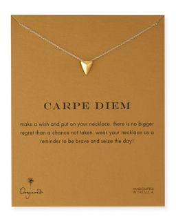 Gold Dipped Carpe Diem Necklace   Dogeared   Gold