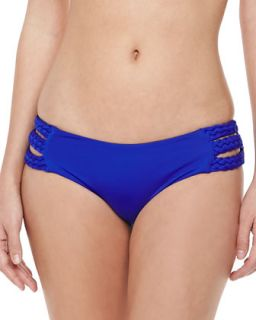 Womens Chloe Side Braid Swim Bottom, Klein Blue   Vitamin A   Klein blue