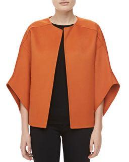 Womens Melton Wool Bolero Jacket, Paprika   Michael Kors   Paprika (4)