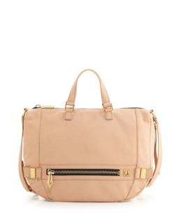 Honore Large Leather Hobo Bag, Powder   Botkier