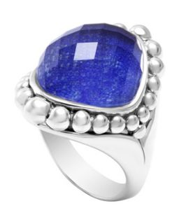 Silver Maya Lapis North South Dome Ring   Lagos   Silver (7)