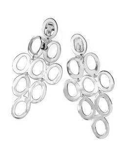Silver Open Cascade Clip On Earrings   Ippolita   Silver