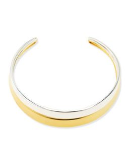 Two Tone Collar Necklace   Robert Lee Morris   Silver/Gold