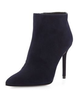 Hitimes Suede Bootie, Nice Blue (Made to Order)   Stuart Weitzman   Nice blue
