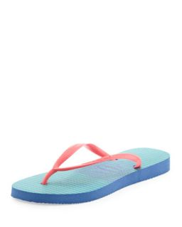 Slim Striped Flip Flop, Light Blue   Havaianas   Blue (39/40)