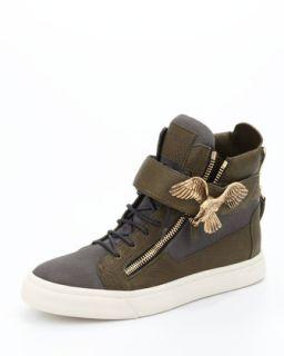 Mens Golden Eagle High Top Sneaker   Giuseppe Zanotti   Oloky fango (40/7D)