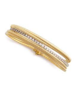 Diamond Cairo 18k Five Strand Bracelet   Marco Bicego   (18k )
