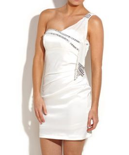 Te Amo One Shoulder Diamante Dress