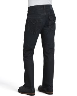 Mens Ricky Straight Black Rider Jeans   True Religion   Black rider (34)