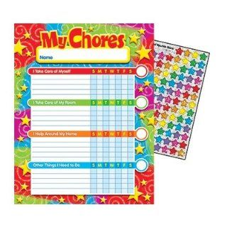 Trend Enterprises Inc. Stars N Swirls Progress Chart : Classroom Pocket Charts : Office Products