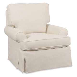 Sam Moore Natalya Swivel Glider   Natural   Upholstered Club Chairs