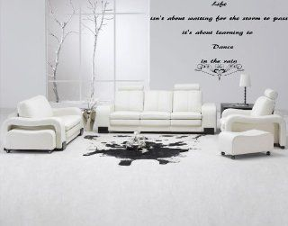 """""""Life isn't about waiting for the storm to pass"""" Vinyl Wall Decal 23"""" x 10""""   Wall Decor Stickers"""