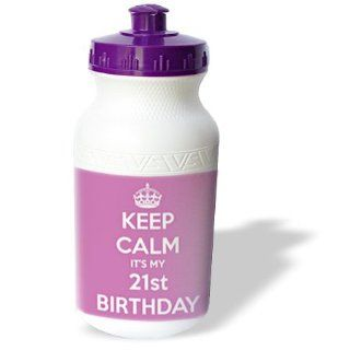 wb_163840_1 EvaDane   Funny Quotes   Keep calm its my 21st Birthday. Happy 21st Birthday. Pink.   Water Bottles : Sports & Outdoors