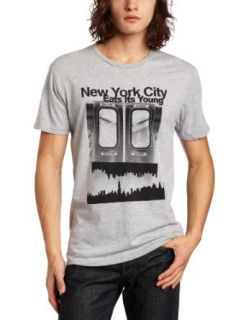 Swag Like Us Men's New York City Eats Its Young T Shirt, Heather Gray, Small at  Men�s Clothing store: Fashion T Shirts