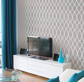 Moroccan Stencil Zagora   reusable stencils for walls instead of wallpaper: Home Improvement