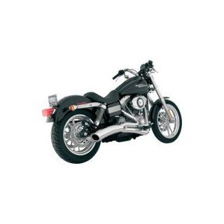 Vance & Hines Big Radius 2 into 1 Chrome Exhaust Pipe System for 2006 2011 Harley Davidson Dyna Models Automotive