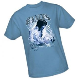 Blue Vegas    Elvis Presley Adult T Shirt: Clothing