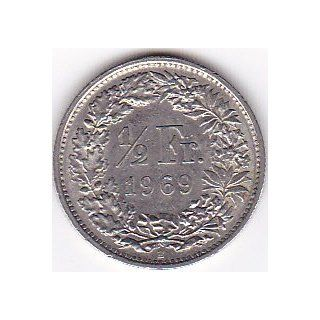 1969 Switzerland 1/2 Franc Coin