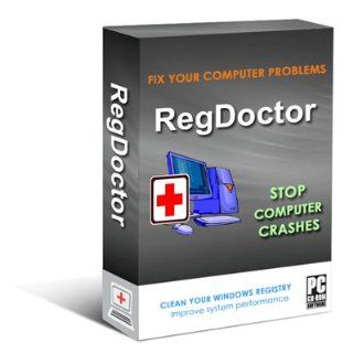 RegDoctor (CD+Download): safely cleans, repairs and optimizes the Windows Registry with one click; cleans the registry to fix Windows errors and crashes; keeps Your PC working faster, smoother and trouble free. Works with Windows 7/Vista/XP/2000/98.: Softw