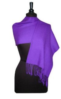 100% Pashmina PURPLE INDIGO Shawl Wrap Woman's Scarf at  Women�s Clothing store