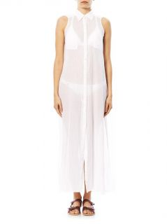 Sleeveless cotton shirt dress  Ondademar