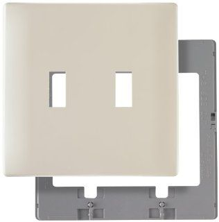 Pass & Seymour SWP2LACC10 Screw Less Wall Plate Plastic Sub Plate Two Gang Light, Almond   Switch Plates