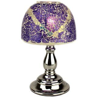 Purple Mosaic Look Electric OIL Warmer Lamp