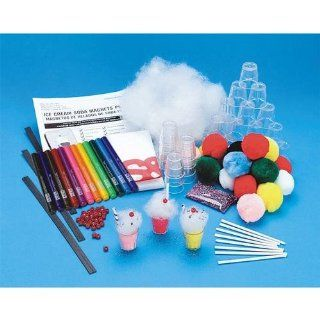Ice Cream Soda Magnets Craft Kit (makes 50): Toys & Games