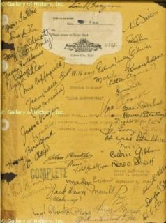 DAVID COPPERFIELD MOVIE CAST   SCRIPT SIGNED CIRCA 1934 CO SIGNED BY: W. C. FIELDS, EDNA MAY OLIVER, JESSIE RALPH, LEWIS STONE, HUGH WILLIAMS, FRANK LAWTON, FAY CHALDECOTT, JEAN CADELL, HARRY BERESFORD, JOHN BUCKLER, OLIVER MARSH, UNA O'CONNOR, MARILYN