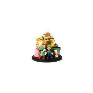 Super Mario Figure Set, Desktop Set, Cake Topper, Makes a Great Gift: Toys & Games