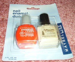 Maybelline Express Finish 50 Second Nail Polish & Salon Expert Nail Color (Nail Enamel Duo) : Beauty