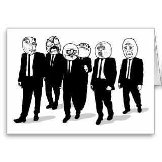 Rage Comic Meme Faces Walking. Me Gusta. Card