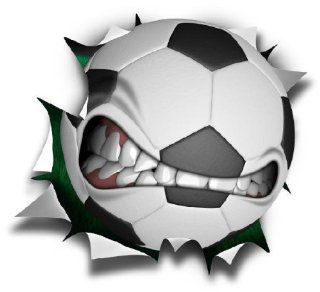 "36"" Soccer mean ball logo Wall Graphic Sticker Color Decal Home Game Kids Boys Girls Room Garage Den Man Cave Decor   Soccer Fathead"