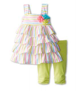 Kate Mack Garden Stripe Tunic & Legging (Toddler) Multi