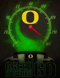 """Oregon Ducks Posters """"Green Means Go"""" Authentic College Football NCAA Sports Merchandise Gifts  Prints  Sports & Outdoors"""