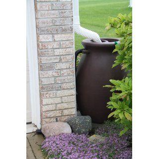Algreen 81212 Agua Rain Water Collection and Storage System, 50 Gallons, Sandalwood  Rain Barrels  Patio, Lawn & Garden