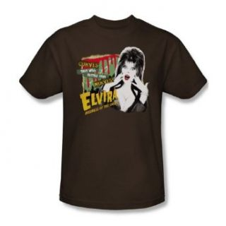 Elvira   Rattle Your Nerves   Adult Coffee S/S T Shirt For Men: Clothing