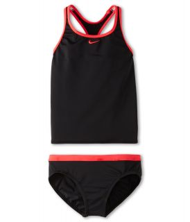 Nike Kids Core Solid Racer Back Tankini And Brief (Big Kids) Black