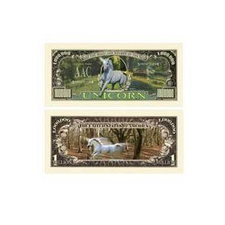 Unicorn Collectible Million Dollar Bill with Bill Protector : Other Products : Everything Else
