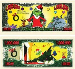 The Grinch Million Dollar Bill With Bill Protector: Toys & Games