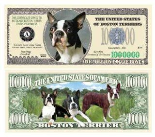 BOSTON TERRIER MILLION DOLLAR BILL (w/Protector)