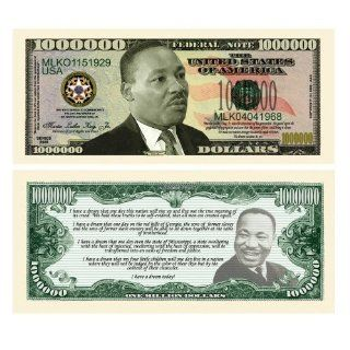 SET OF 100 MARTIN LUTHER KING JR MILLION DOLLAR BILLS: Toys & Games