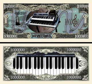 Keyboard Novelty $Million Dollar Bill Collectible  Prints