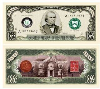 Andrew Johnson Million Dollar Bill Case Pack 100 Electronics